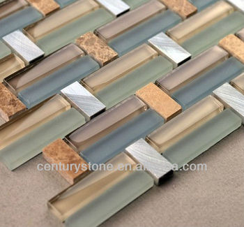 Interlocking Aluminum Glass Stone Strip Mosaic Decorative Tile Strip Buy Glass Stone Strip
