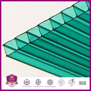 4mm/5mm/6mm Green Colored Polycarbonate Sheet Twin-wall Hollow ...