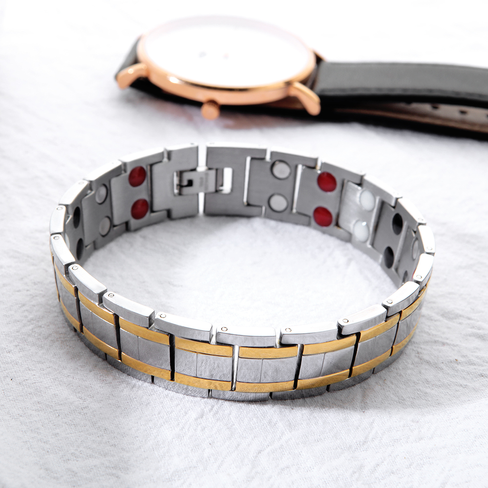 Bio Energy Healing Titanium Magnetic Bracelet Men Jewelry Bracelet Gift For Men