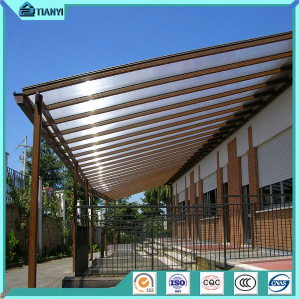 Waterproof Polycarbonate Plastic Cover awning rain cover for balcony