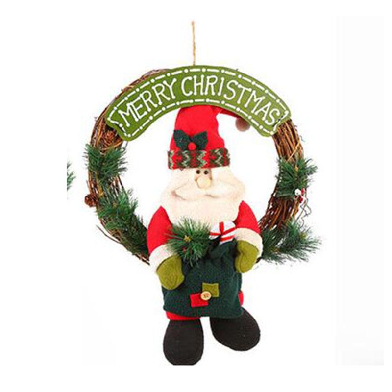 Dibujos De Navidad Creativos.Sumeihui Dia De Navidad Colgante De Muneco De Nieve Santa Claus Nuevo Estilo Creativo Navidad Grandes Dibujos Animados Coronas Identificacion Del