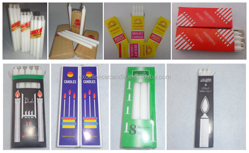 factory supplied exported machine making wholesale colored taper candle