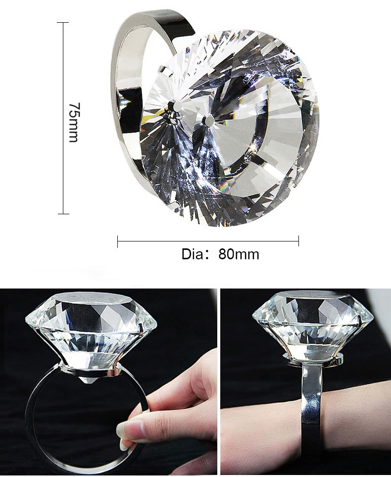 Wholesal60mm 80mm 100mm K9 Crystal glass Diamonds for Wedding Souvenirs