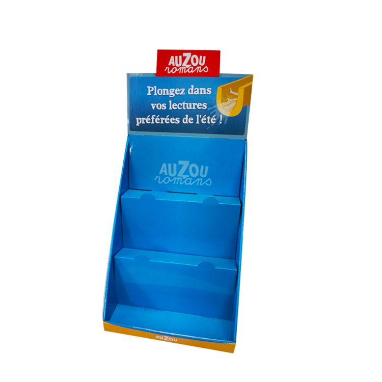 Hot selling Recyclable Echo-friendly Advertising Free standing wall display for Stationary and Books Display