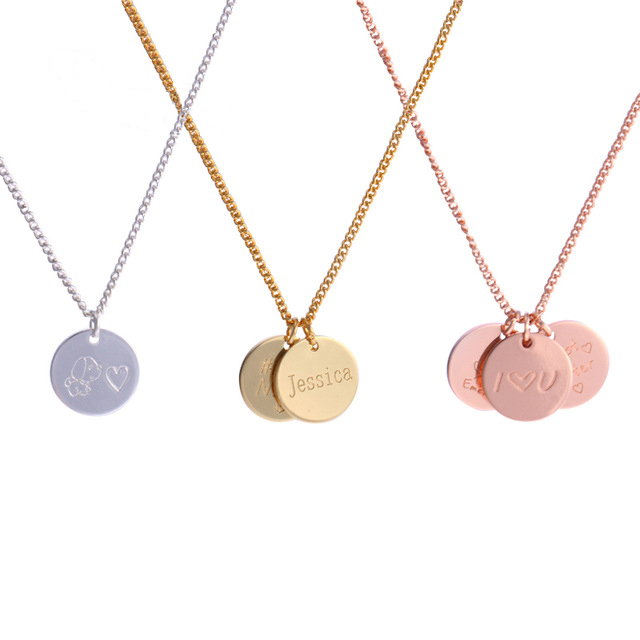 China baby gift jewelry wholesale alibaba personalized gold coin pendants necklaces disc necklaces custom baby name necklace jewelry gifts negle Images