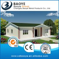 Manufacturer of 2017 Baoye prefabricated house sandwich panel plan cheap price