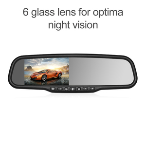 4.3 inch rearview mirror dash cam with auto brightness
