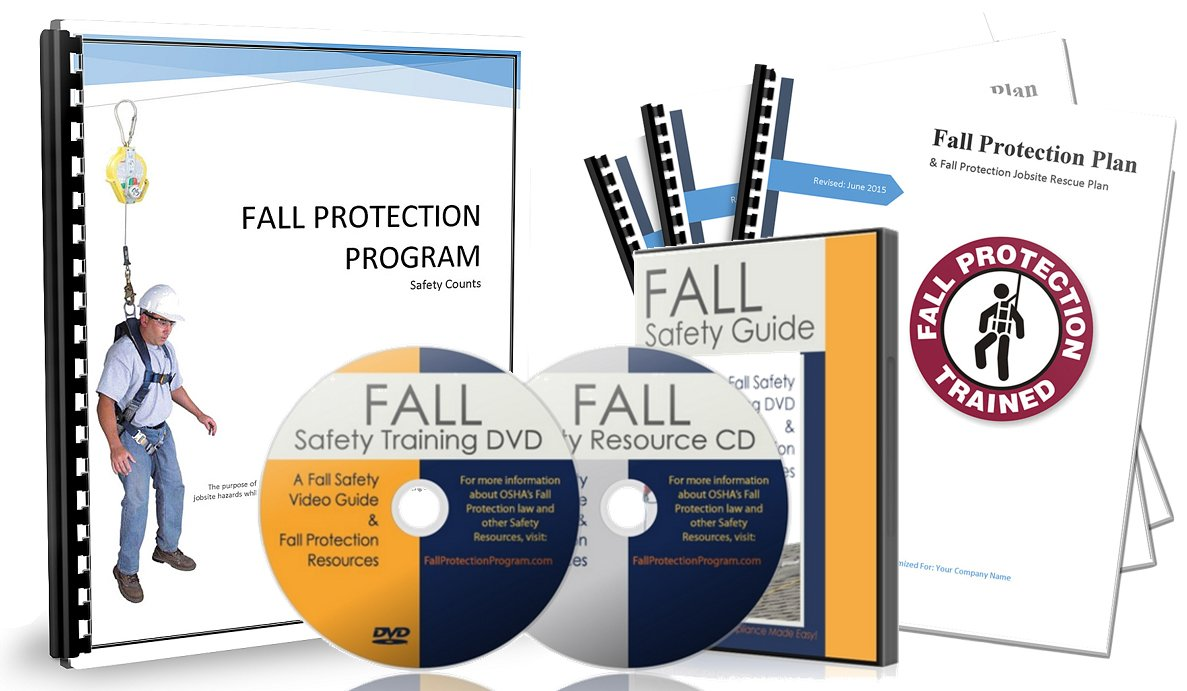 OSHA Fall Protection Program Safety Compliance Bundle & Fall Protection Plan (English + Spanish)