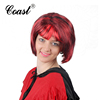 two tone synthetic short red queen wigs