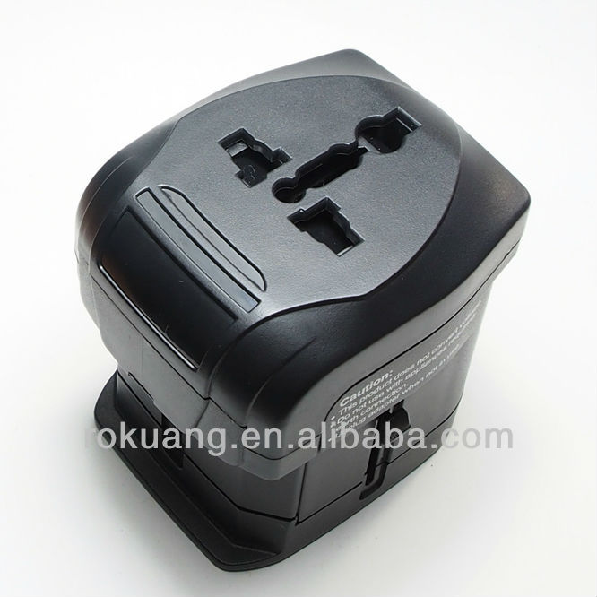Travel Adapter with 2.1A USB, 163U