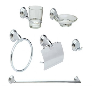 China Yuyao Manufacturing New Bath Wall Mounted Bathroom Accessory Set  For Hotel