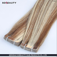 Easy Skin Weft Pu Glue Virgin Tape Hair Extensions For Beauty