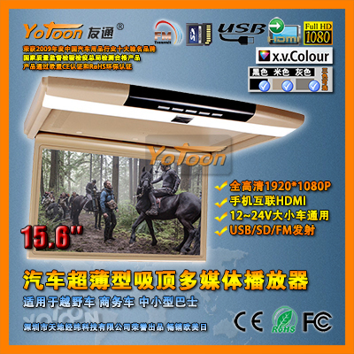 "Roof Mounted Flip Down Monitor,1920*(RGB)*1080Pixel 15.6"" Roof Mounted Flip Down Monitor"
