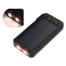 2019 Nova tecnologia de energia solar charger dual port power bank com luz led