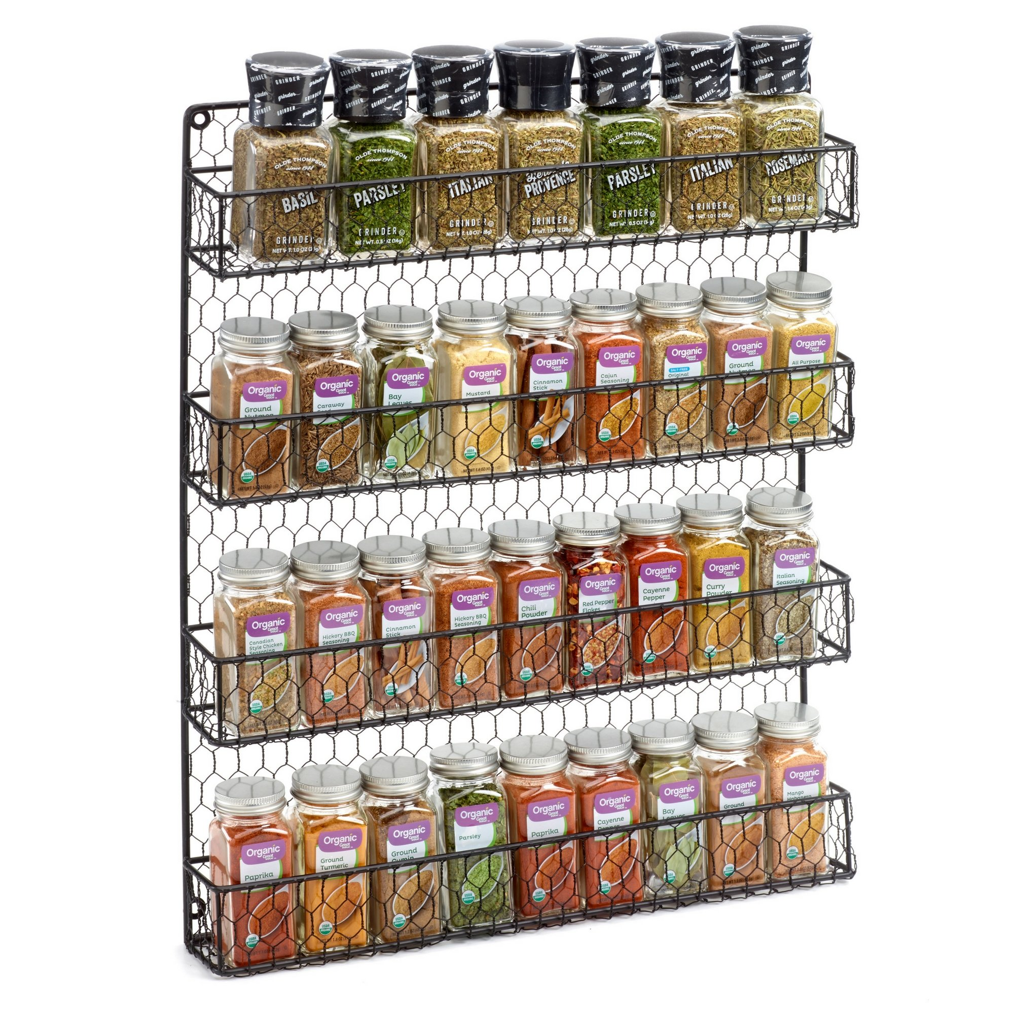 Buy 4 Tier Country Metal Chicken Wire Spice Rack From 1790