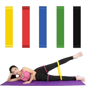 Yoga Gym 100% Natural Latex Elastic Fitness Resistance Band
