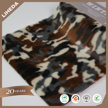 Faux fur manufacturers jacquard camouflage flowers fur camouflage faux fur for coat