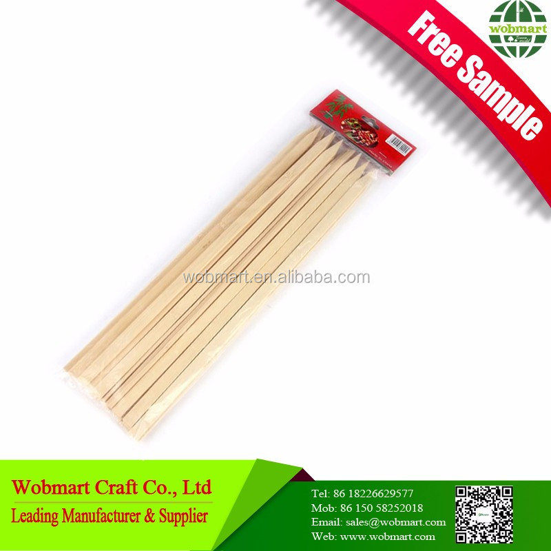 Cheap Price High Quality Barbecue Flat Bamboo Skewer