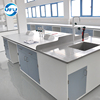 Laboratory Furniture Modern School Central Workstation with PP Sink and Faucet