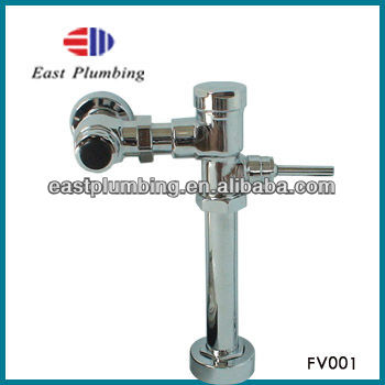 FV001 New design high quality single handle brass toilet delay flush valve
