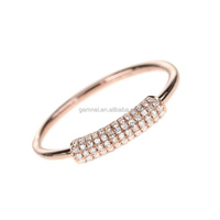 Eternal sparkle ring 14k italy 925 silver ring wholesale diamond cz ring