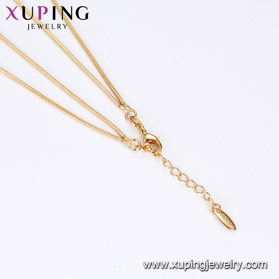 43054 Xuping Jewelry Fashion Heart Shaped Lady Necklace for Birthday Gifts