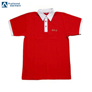 ebc19ddd hot sale men's white polo shirt with red collar plain polo shirts custom  design wholesale t