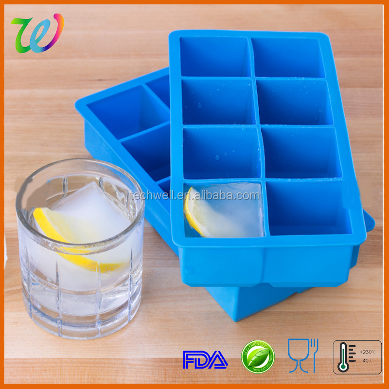 LFGB & FDA customed 8 cavity baby Food Flexible Freezer Tray with lid