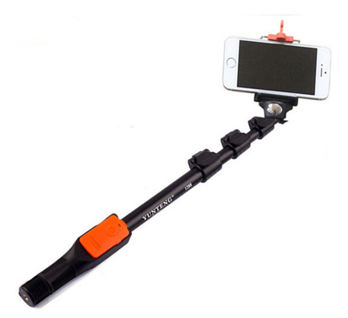 Original YUNTENG 1288 Extendable Self Portrait Selfie Stick Monopod Bluetooth Remote Shutter for iPhone 6 5s 4s