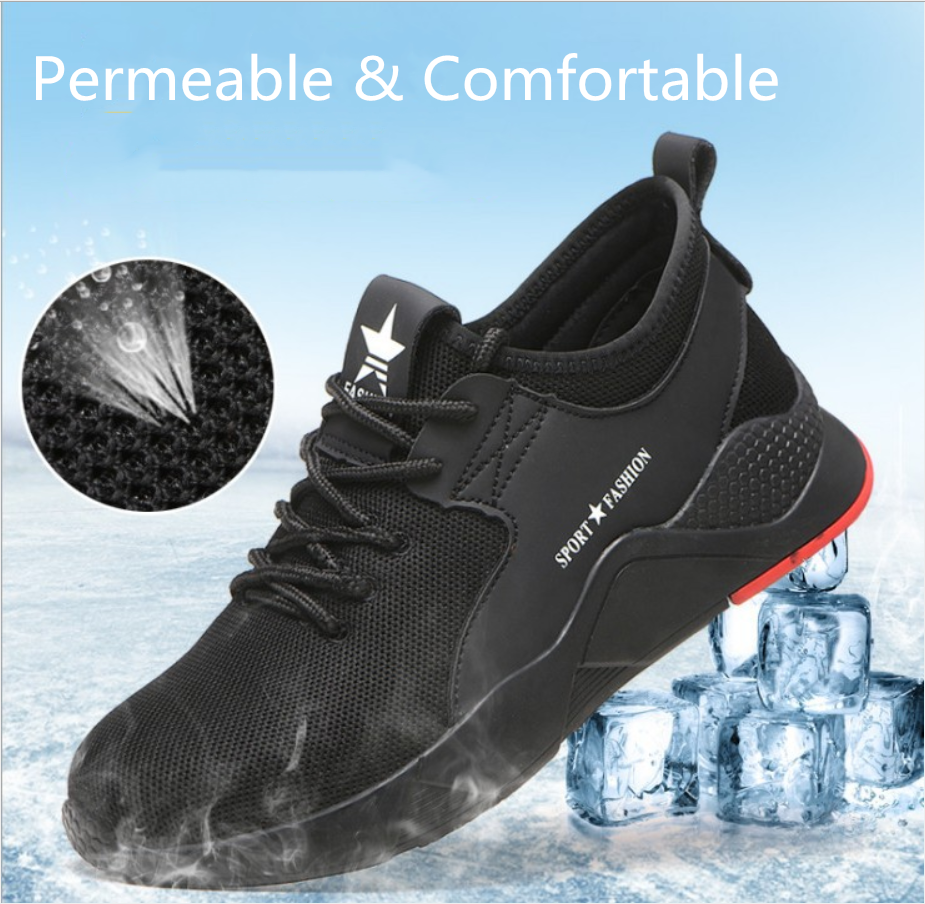 2019 fashionable steel toecap lightweight breathable casual wear-resistant anti-skid work safety shoes FW-FZ0034