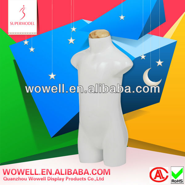 lifelike style child torso mannequin for tailor
