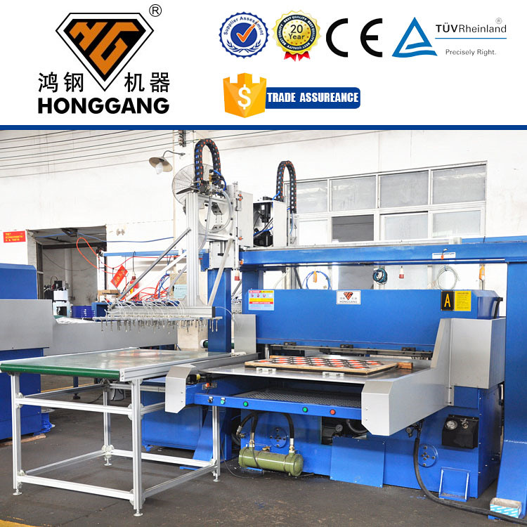 HG-B100T automatic thermoformed plastic package cutting press <strong>machine</strong>