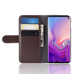 Genuine Leather Magnetic Smart Flip Folio Case Cover Card Slot Phone Case for Samsung Galaxy S10e Case