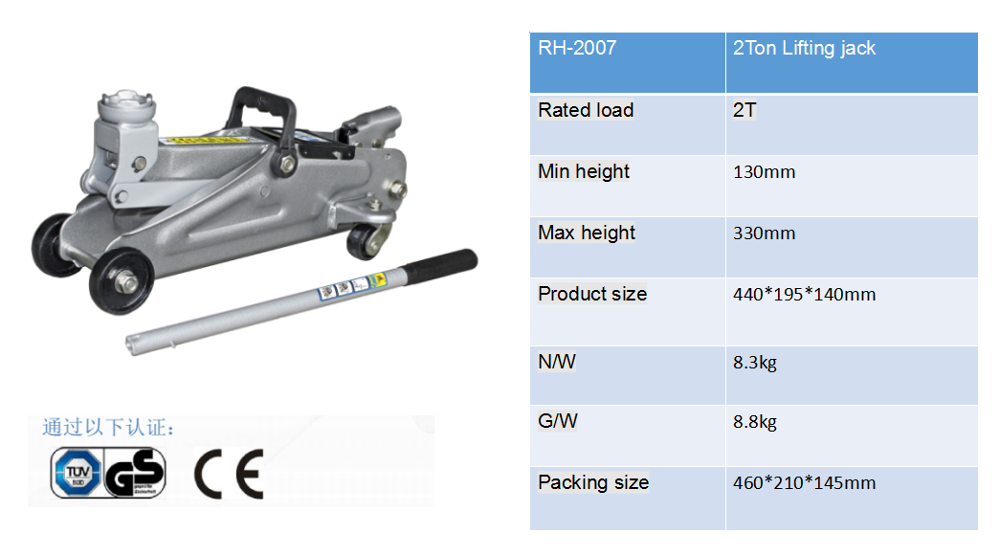 2T Hydraulic Floor Jack / Lifting jacks