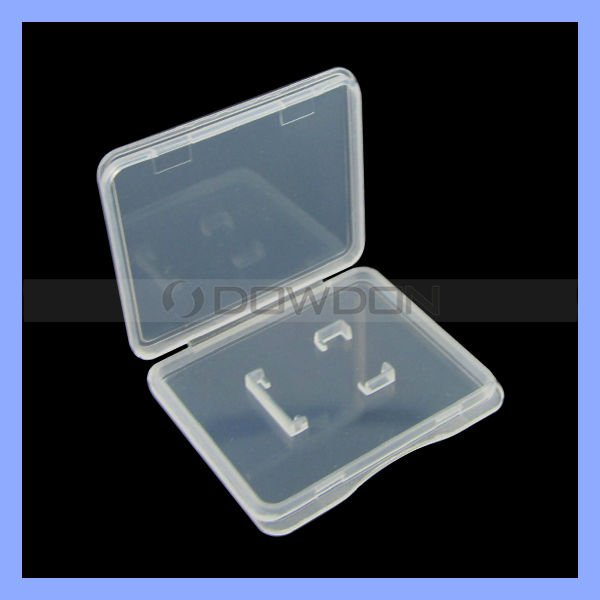 Plastic Clear PP Card Case Transparent Memory Card Box Storage Case