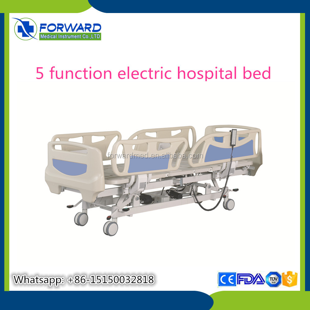 Five 5 functions icu bed electric mdeical hospital bed for patient