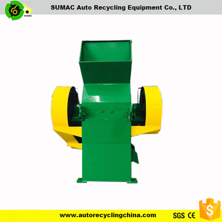 Waste tire recycling rubber crusher/rubber scraps crushing machine