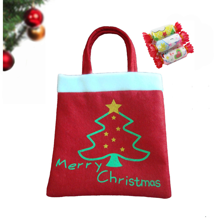 New brand 2015 Hot Gift Bag Christmas Supplies Home Children Gift Snowman Candy Bags Merry Christmas Decoration