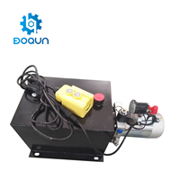 SD02C 15 Quart Single Acting 12V DC 2KW 2550 PSI Remote Control Small Hydraulic Power Pack For Dump Trailer Truck Car Lift Unit