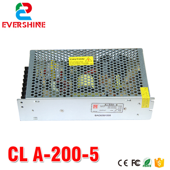 dc 5v power supply led display screen Chuanglian A-200-5 power supply 200W Single Output