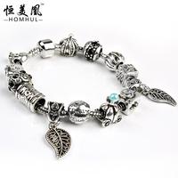 2016 Jewelry Making Supplies snake bracelet charm beaded bracelet wholesale