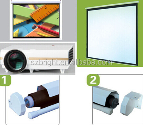 Manual Projector Screen manual Pull Down projection screen