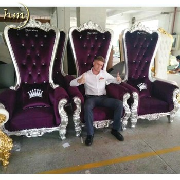 Wedding High Back Cheap King Throne Chair For Party
