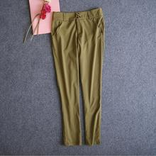 Work Brown Commando Fabric Fashion Trousers Made In China For Women