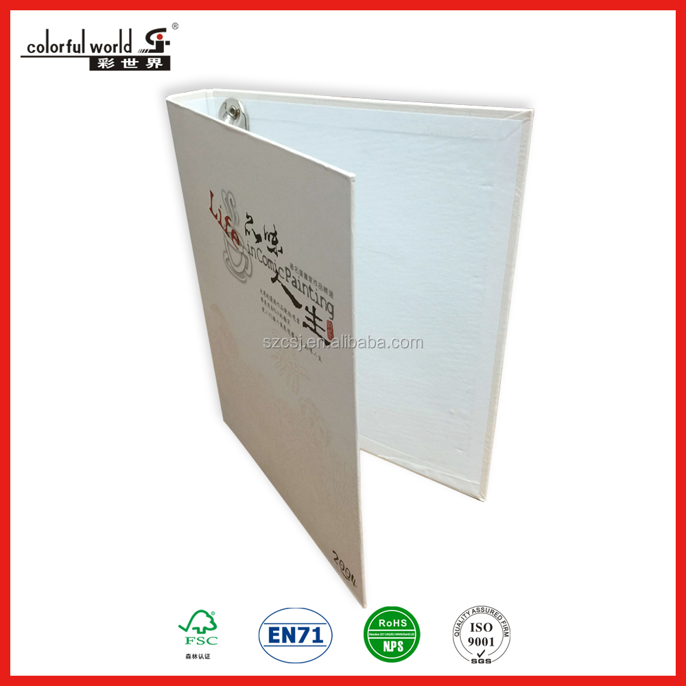 2/3/4/6 metal ring binder in a4 a5 a6 custom size
