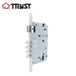 TRUST 8560-4R SS High Security 4 bolts 2 turns metal door lock body mortise lock cylinder lock