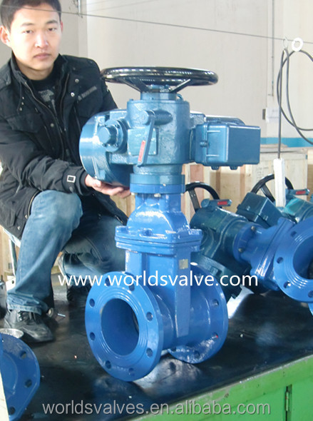 Electrical actuated resilient seated Gate valve for water supply