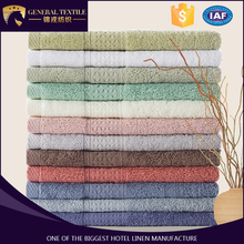 100% combed cotton washable bath towel set for hotel or salon