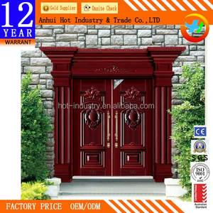 Accept OEM/ODM Fire Exit Door High End Fashion Simple Indian Door Design Warmth Preserved Guards Against Theft Villas Door