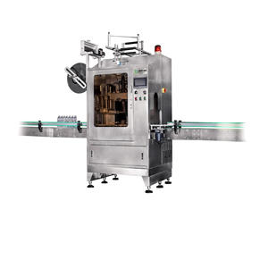 Glass Bottle Cups Automatic Sleeve Labeling Machine Sleeve Applicator Machine